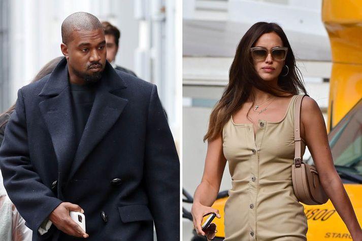 Slúðurmiðlar velta fyrir sér hvort Kanye West og Irina Shayk séu nýtt par.