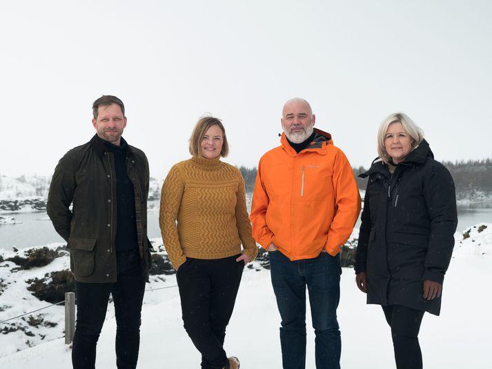 Efstu frambjóðendurnir fjórir. Frá vinstri: Kjartan Páll Þórarinsson, Hildu Jana Gísladóttir, Logi Einarsson og Eydís Ásbjörnsdóttir.