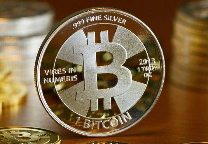 Svona gæti Bitcoin litið út, væri myntin til öðruvísi en á stafrænu formi.
