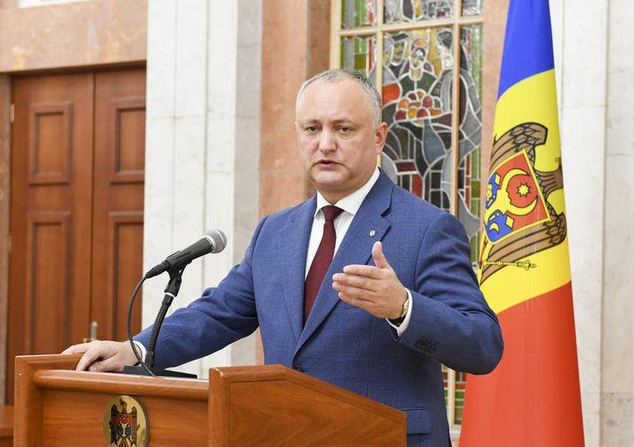 Igor Dodon er forseti Moldóvu.