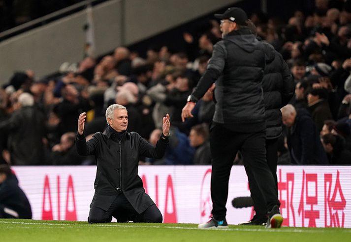 Mourinho ósáttur í leiknum gegn Liverpool um síðustu helgi.