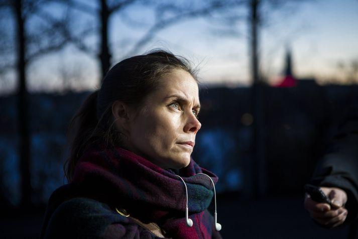 Katrín Jakobsdóttir segir að unnið sé af heilindum í máli Hauks Hilmarssonar