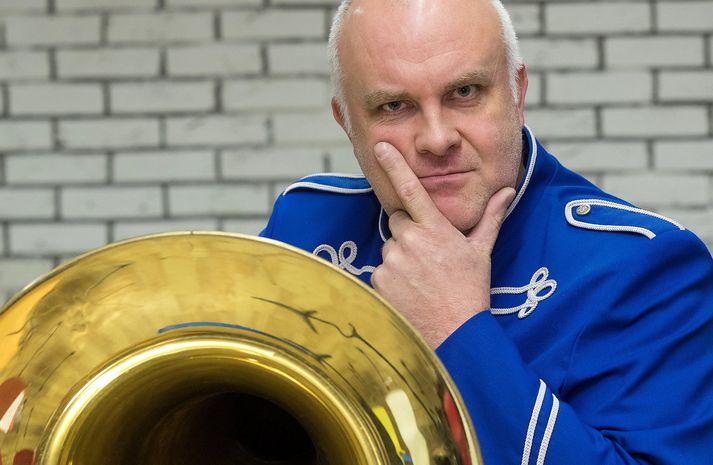 Þorkell Harðarson, varaformaður Lúðrasveitar Svans og klarinettleikari hennar.