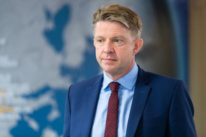 Bogi Nils Bogason, forstjóri Icelandair. Hann segir ársfjórðungsuppgjör ekki lýsandi fyrir stöðu fyrirtækisins þetta árið.