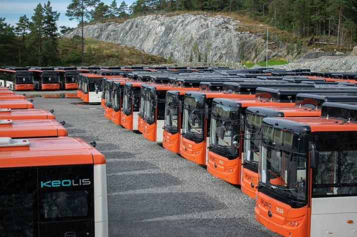Yutong Eurobus strætisvagnar, reiðubúnir til afhendingar.
