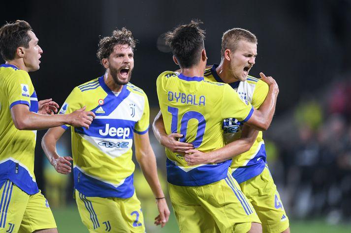 Sigurinn skipti leikmenn Juventus miklu máli.
