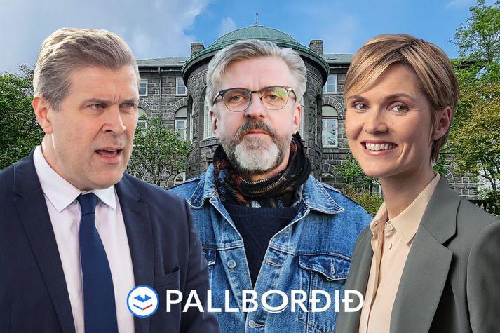 Bjarni, Gunnar Smári og Kristrún takast á í beinni klukkan 14.