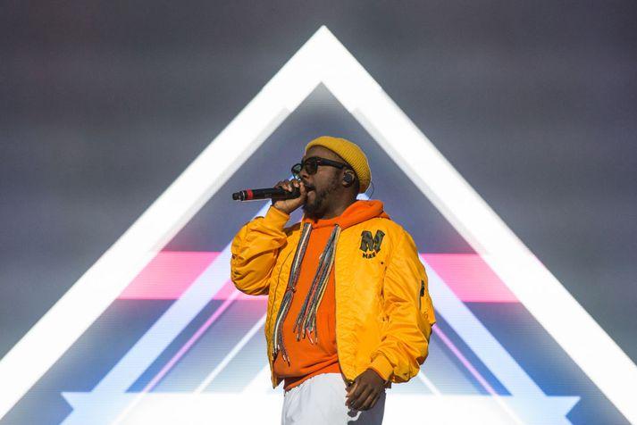 Tónlistarmaðurinn will.i.am. mun spila á Secret Solstice í kvöld ásamt hljómsveit sinni Black Eyed Peas.