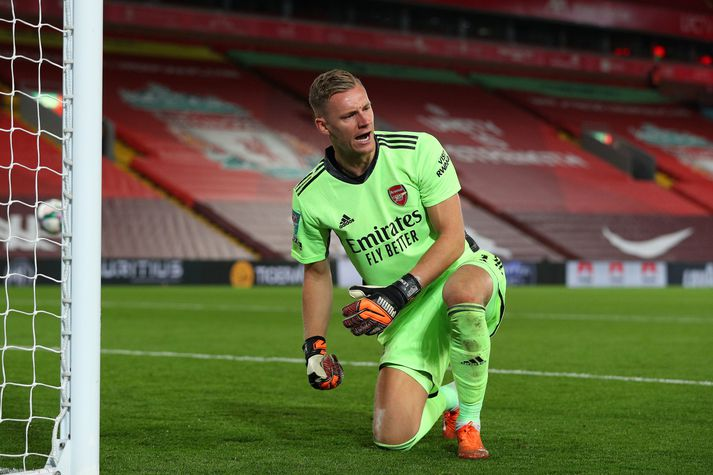 Leno átti frábæran leik í marki Arsenal í kvöld.