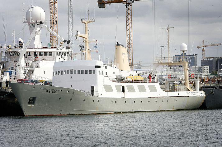 Hafrannsóknaskipið Bjarni Sæmundsson var í leiðangri.