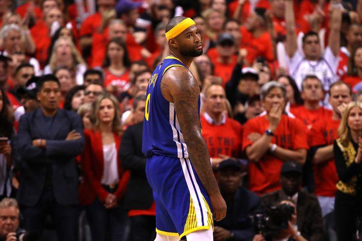 DeMarcus Cousins lék með Golden State Warriors á síðustu leiktíð.