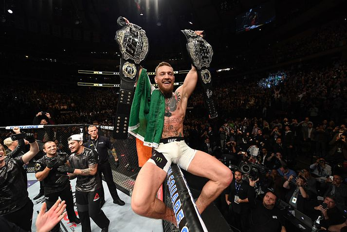 Conor varð tvöfaldur heimsmeistari í UFC í nóvember 2016 en hefur ekki barist síðan þá.