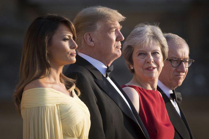 Donald Trump, Bandaríkjanna, er ekki hrifin af þeim áherslum sem May undirstrikað með núverandi Brexit-samningum.