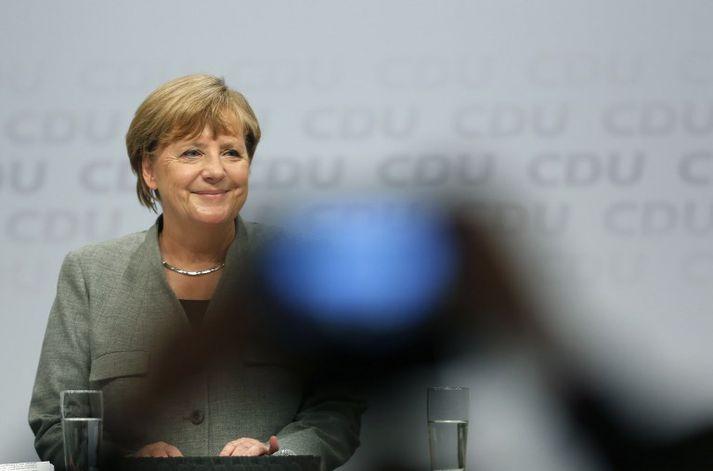 Flest bendir til þess að Angela Merkel haldi velli sem kanslari Þýskalands.