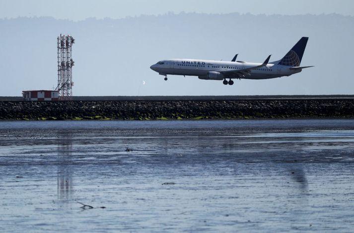 Boeing 737 MAX vélarnar voru allar kyrrsettar í mars síðastliðinn.