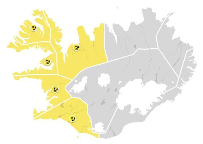 Í næstu viku er útlit fyrir að snjórinn verði kvaddur í bili.