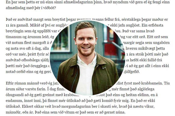 Arnar Svein Geirsson er pistlahöfundur ársins. Hann á þann pistil sem naut mestrar athygli á árinu 2019 og einnig þann sem situr í tíunda sæti lista.