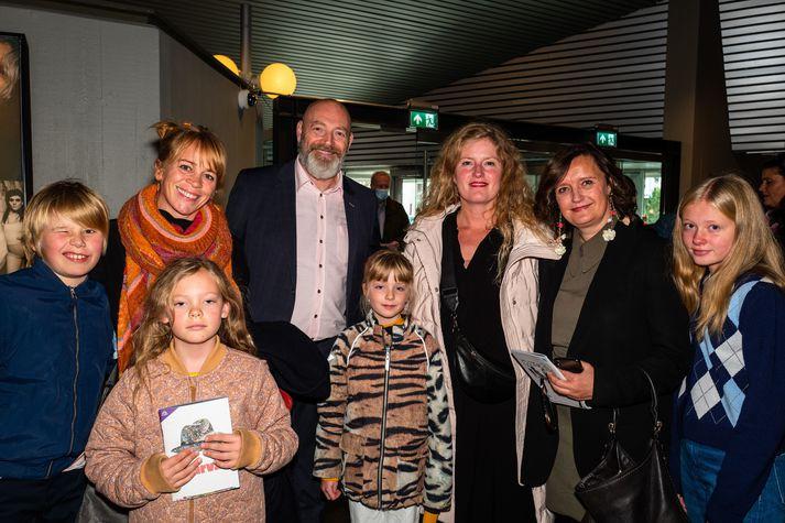 Sólveig Arnarsdóttir, Felix Bergsson, Áslaug Guðrúnardóttir, Marta Nordal og börn þeirra