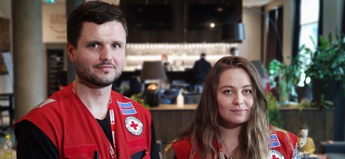 Örvar Rafnsson og Áslaug Yngvadóttir eru umsjónarmenn sóttkvíarhótelsins.