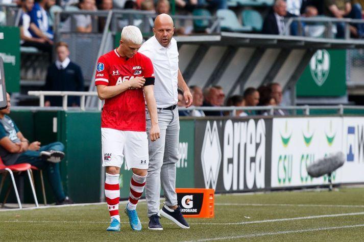 Arne Slot ásamt Alberti Guðmundssyni.
