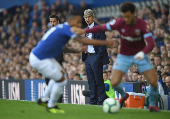 Úr leik Everton og West Ham á síðustu leiktíð.