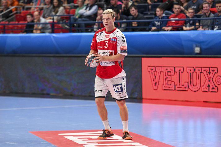 Janus Daði í leik gegn PSG fyrr í vetur.
