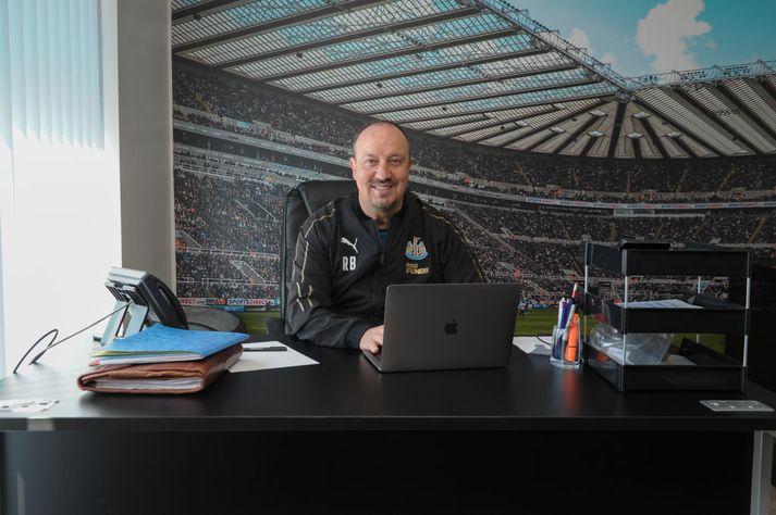 Rafa Benitez líður vel í Newcastle