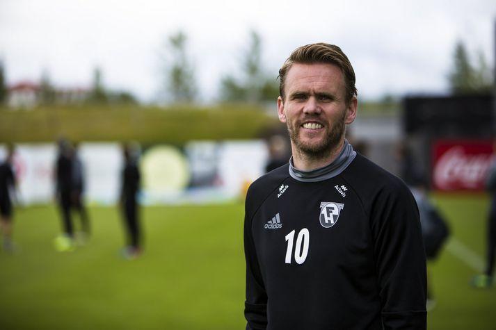 Davíð Þór Viðarsson, fyrirliði FH.