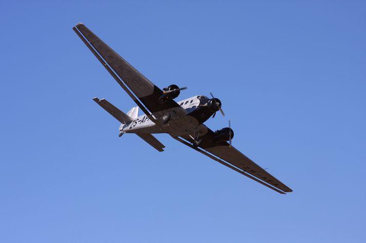 Flugvél af tegundinni Junkers Ju-52.