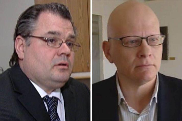 Sigurjón Árnason, fyrrverandi bankastjóri Landsbankans, og Karl Wernersson, fjárfestir og einn eigenda Milestone.
