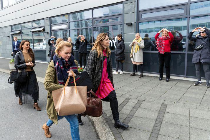 Samningarnefnd Icelandair í deilunni við flugfreyjur kemur til fundar hjá Ríkissáttasemjara
