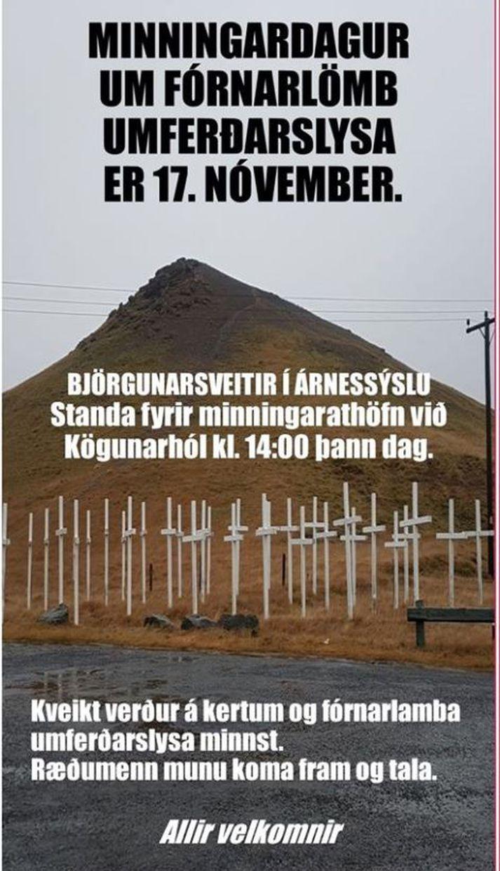 Athöfnin fer fram klukkan 14:00 í dag við Kögunarhól.