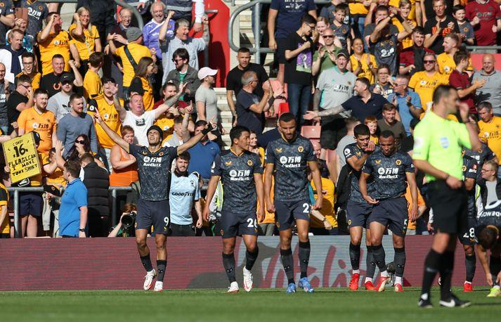 raul jiminez skoraði eina mark leiksins þegar að Wolves vann 1-0 útisigur gegn Southampton í dag.