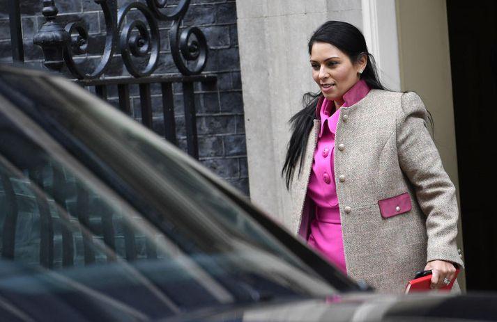 Priti Patel, innanríkisráðherra Bretlands, ræddi um breytingar á innflytjendalöggjöf í fjölmiðlum í dag.