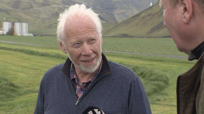 Ólafur Eggertsson í viðtali á Þorvaldseyri í dag.