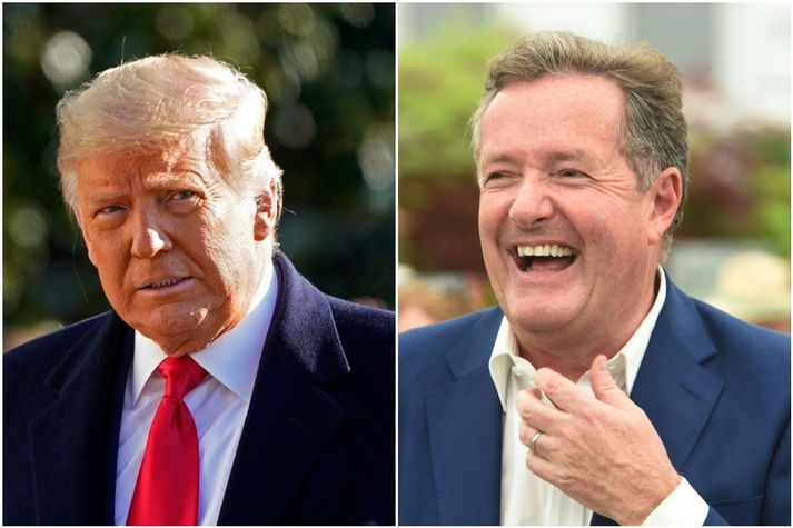 Trump og Morgan kom ágætlega saman í eina tíð en á lokum gekk forsetinn fyrrverandi fram af sjónvarpsmanninum.
