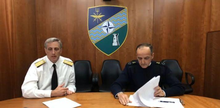Andrew Burcher og Didier Piaton, varaaðmírálar hjá NATO.