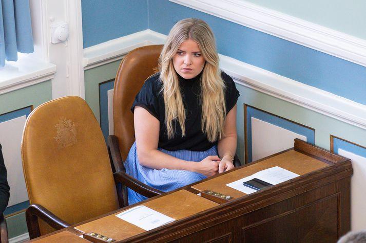 Áslaug Arna Sigurbjörnsdóttir, dómsmálaráðherra. Hún vill ekki tjá sig um hótanirnar en segir slík mál til rannsóknar hjá lögreglu.