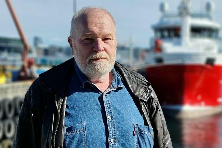 Arthur Bogason, formaður Landssambands smábátaeigenda, í Reykjavíkurhöfn í dag.