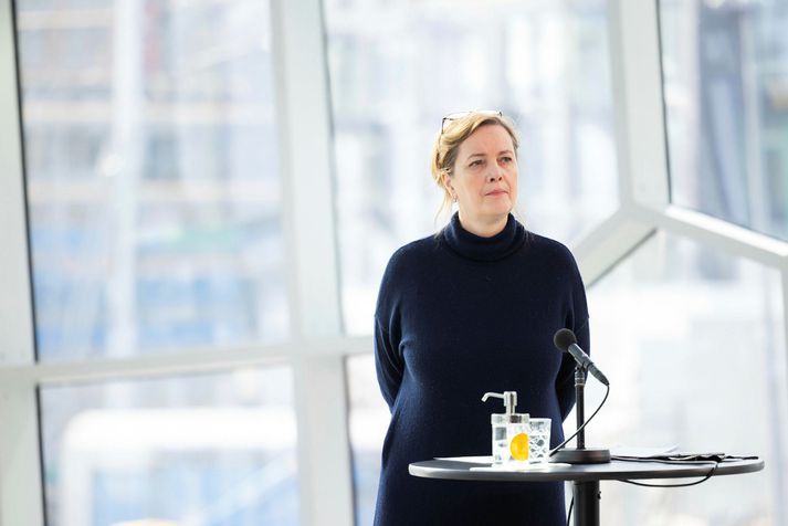 Svandis Svavarsdottir minister of health.