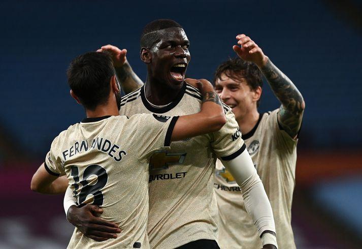 Manchester United stendur vel að vígi í baráttunni um Meistaradeildarsæti eftir fjóra sigra í röð.