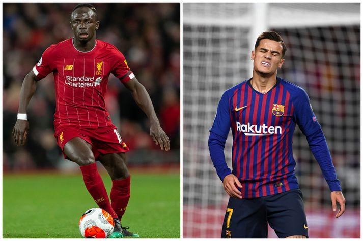 Sadio Mane hefur verið orðaður við Barcelona en Coutinho, sem er samningsbundinn Barcelona, er nú á láni hjá Bayern Munchen.