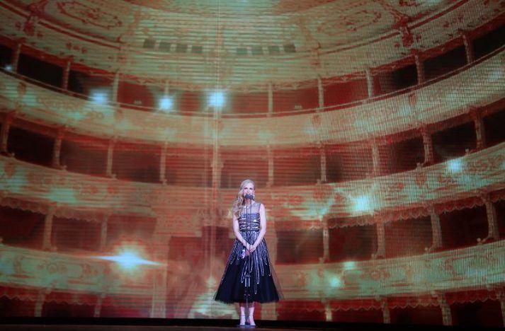 Ástralska leikkonan Nicole Kidman í gærkvöldi.