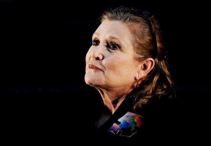 Carrie Fisher öðlaðist heimsfrægð sem Lilja prinsessa í Stjörnustríði.