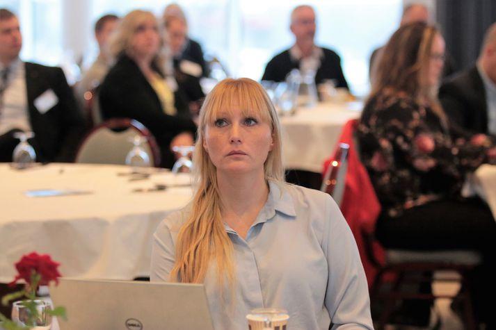 Sandra Brá Jóhannesdóttir, sveitarstjóri Skaftárhrepps sem er með aðsetur á Klaustri. Myndin var tekin á ársþingi Samtaka sunnlenskra sveitarfélaga í haust.