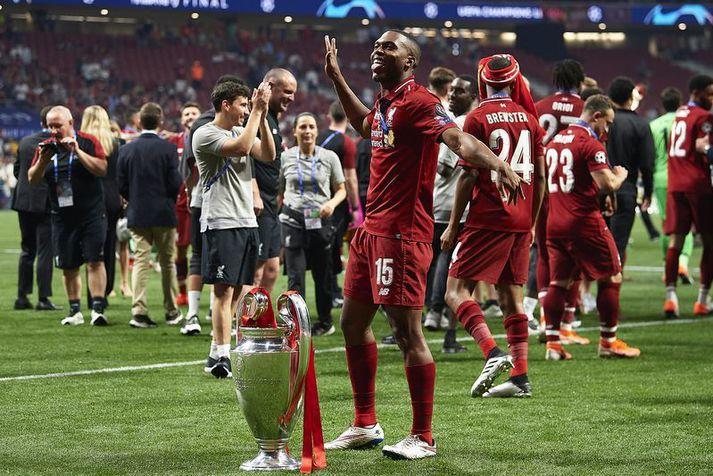 Daniel Sturridge endaði tíma sinn hjá Liverpool sem Evrópumeistari.