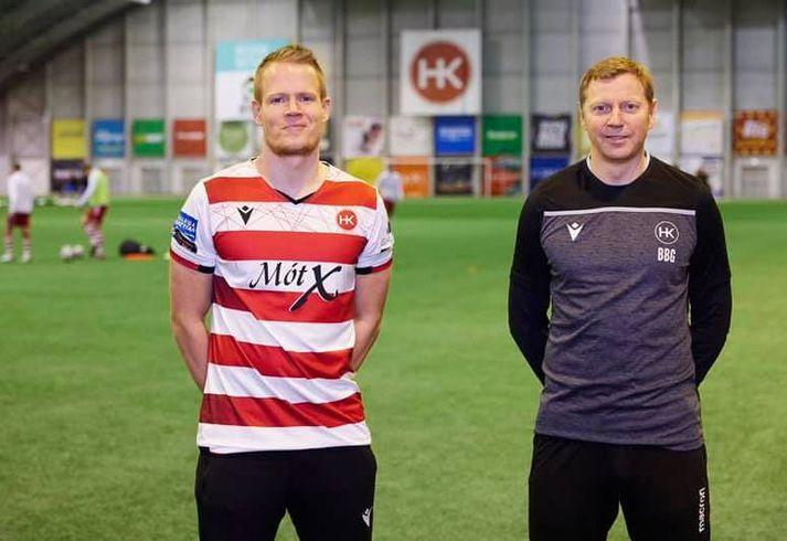 Martin Rauschenberg og Brynjar Björn Gunnarsson, þjálfari HK.