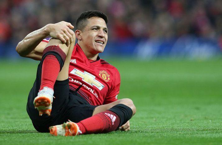 Alexis Sanchez hefur ekki gert merkilega hluti í búningi Manchester United.