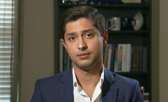 Yasir Batalci lýsti aukaverkunum af Moderna-bóluefninu í viðtali við CNN í dag.
