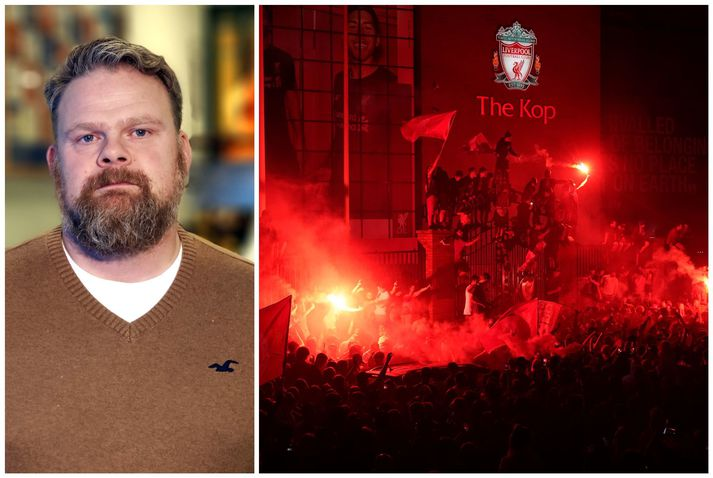 Magnús Þór Jónsson er mikill stuðningsmaður Englandsmeistara Liverpool.